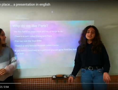 Our favourite places – some English presentations